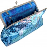 New Mermaid satin clutch bags based on Rackham and Clarke illustrations.