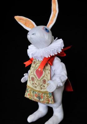 The White Rabbit Herald doll by Baba Studio