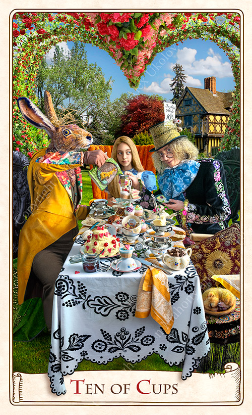 "The Ten of Cups ""Teaparty"" from The Alice Tarot"